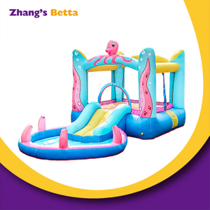 Kids Little Octopus Jump Bouncy Castle with Water Slide