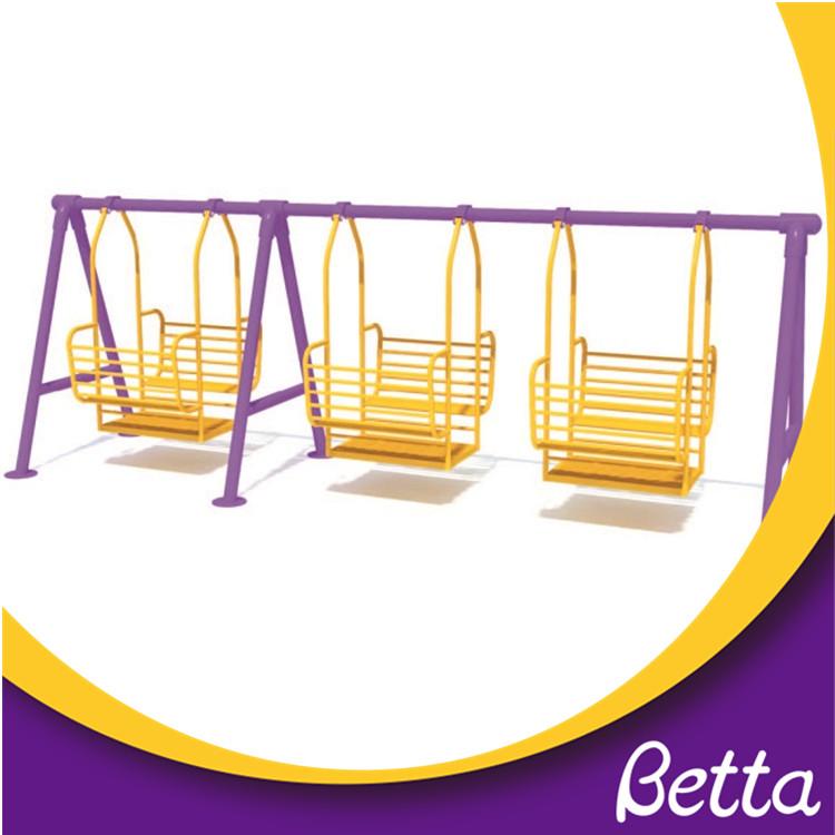 Peachy Outdoor Three Swings Playground Children Chair Equipment Set Theyellowbook Wood Chair Design Ideas Theyellowbookinfo