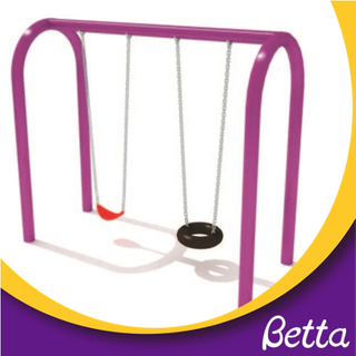 Relaxing swings playground double chairs equipment set for children