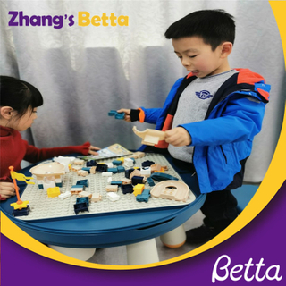 Factory price Plastic Kids Bricks Intellect Toys Architecture Building Blocks Table For Children