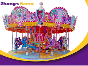 Merry Go Round Playground Equipment For Amusement Park