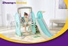 Modest Style Pastel Home Stay New Design Best Quality & Plastic Children Slide with Hoop Outdoor Playground Equipment Own Use