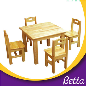Wholesale Kids Study Wooden Table Chairs And Desk , Kindergarten Furniture