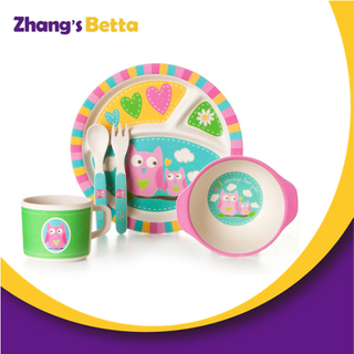 Home & Garden Kids High Quality Bamboo Dinnerware Set