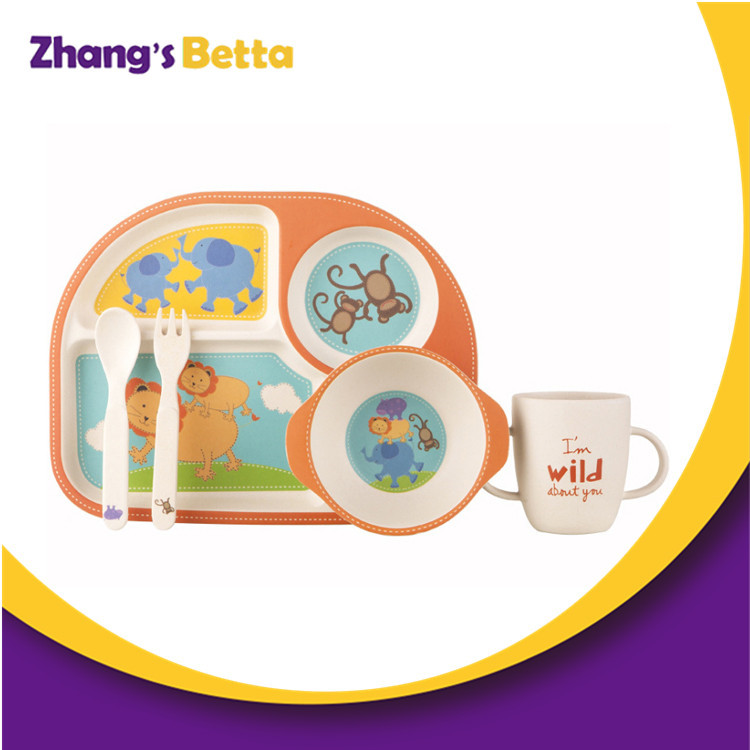 New Design Adorable Children Bamboo Dinnerware