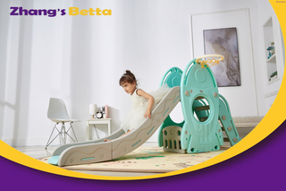 Pastel Home Stay New Design Best Quality & Plastic Children Slide with Hoop Outdoor Playground Equipment For Own Use