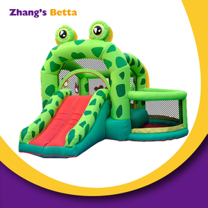 Kids Cartoon Frog Jumping House with Slide