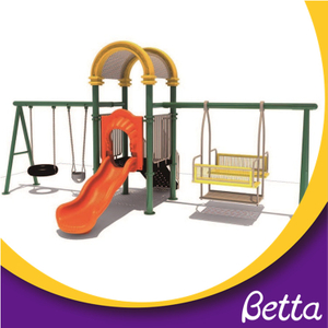 Professional made durable garden swing with slide for kids