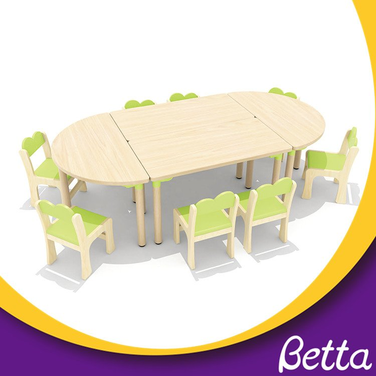 Colorful Classroom moon shape kids table kindergarten furniture