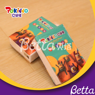 Pokiddo Franchise Products For Indoor Playground Promotion Mini Disposable Facial Pocket Tissue