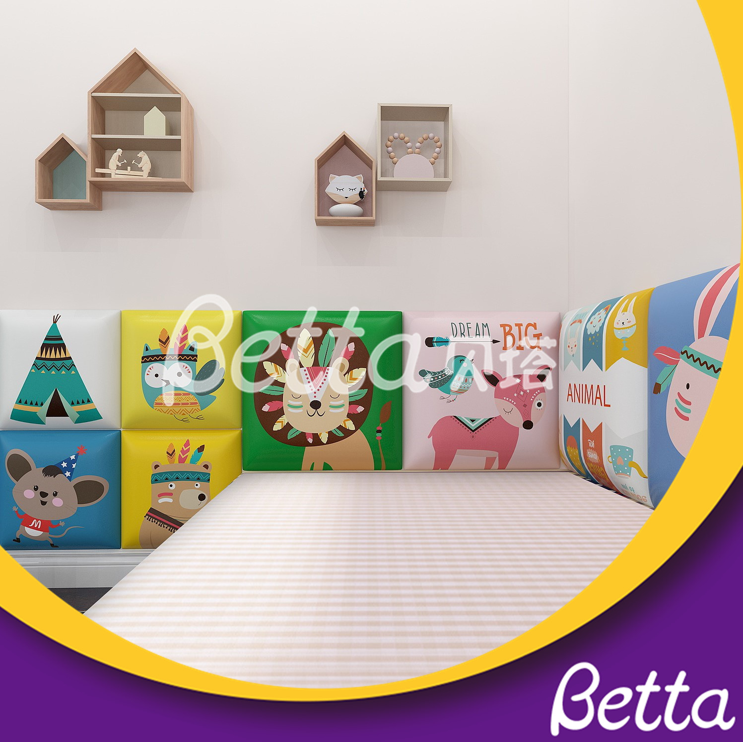 Children Soft Wall for Indoor Playground Safety Play in Kindergarten