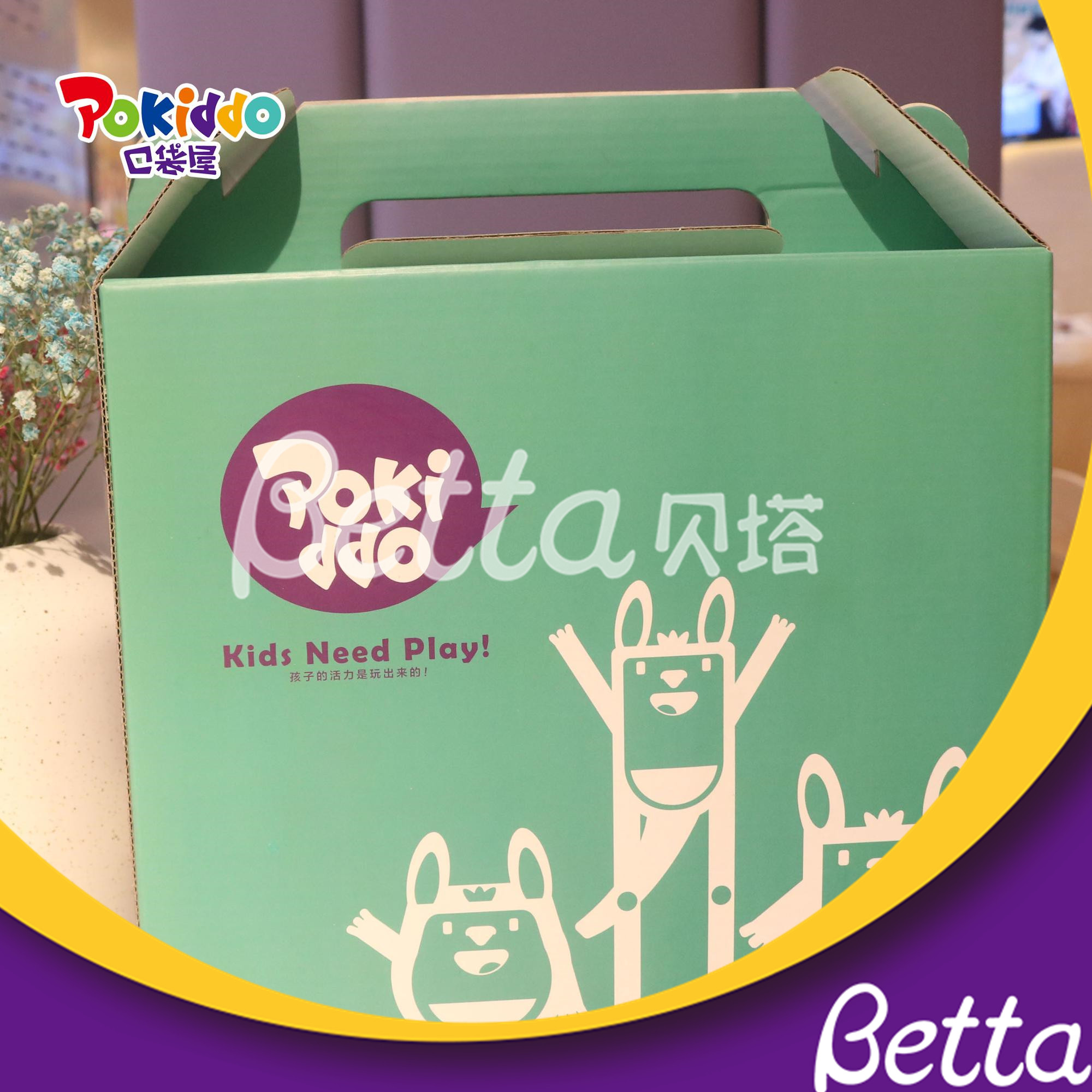 Pokiddo Gift Food Paper Packaging Box Customized Cardboard Kraft Paper Box