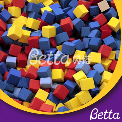 Bettaplay foam cube cover and foam cube for foam pit bettaplay