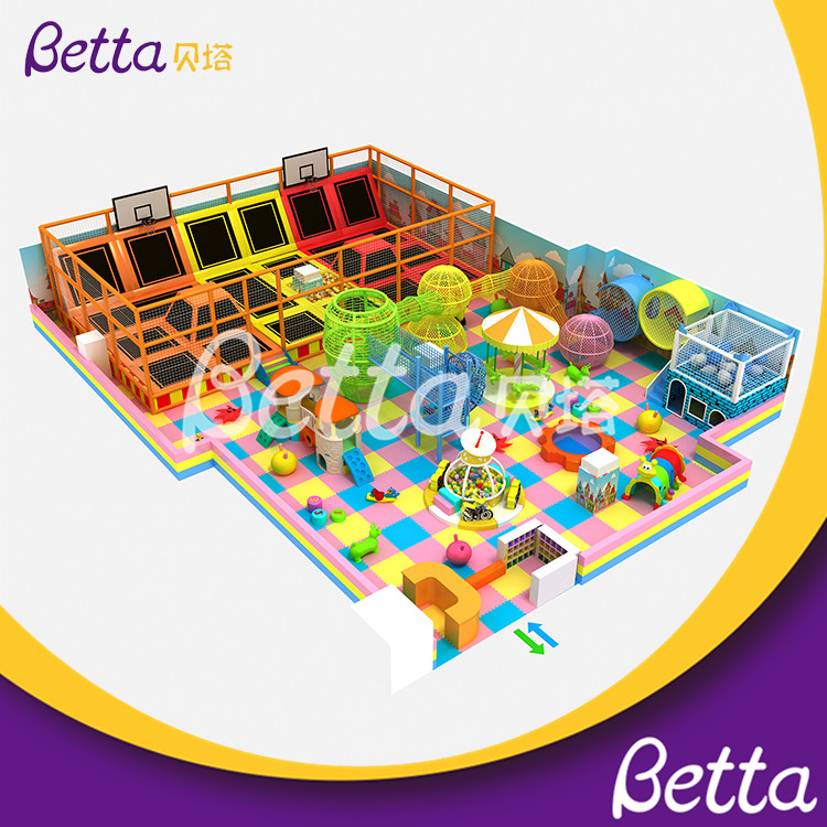 2019 Betta Indoor Playground with Foam Pit Commercial Trampoline Park