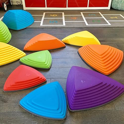 Children Balance Training Stepping Stones Plastic River Stone Toy