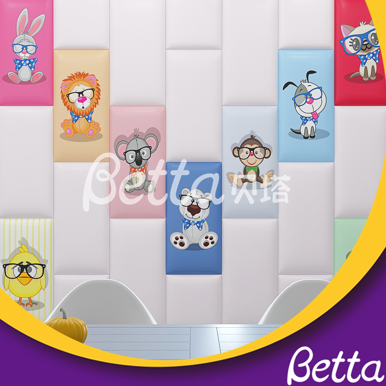 Kids Safety Wall Customized Colorful Wall Soft Play for Indoor Playground Kindergarten