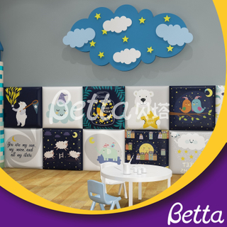 Soft Wall Customized Safety Good Night Wall for Kids Room