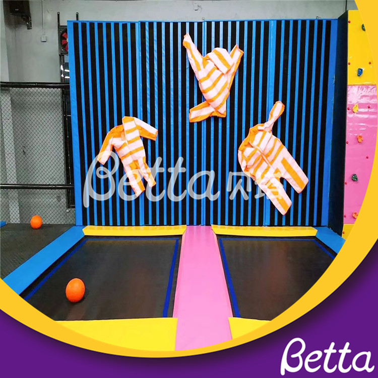 Bettaplay Trampoline Park Game for Kids with Air Bag And Spider Wall