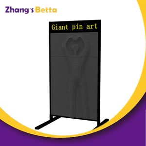3D Pin Art Sculpture Extra Large Pin Impression Hand Toy in Green Pin Screen Pin Wall